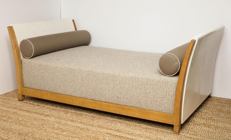 French Important Parchment Daybed by Jansen For Sale