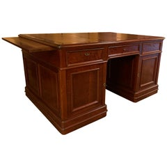 Important Partner Desk 19th Century in Mahogany from France