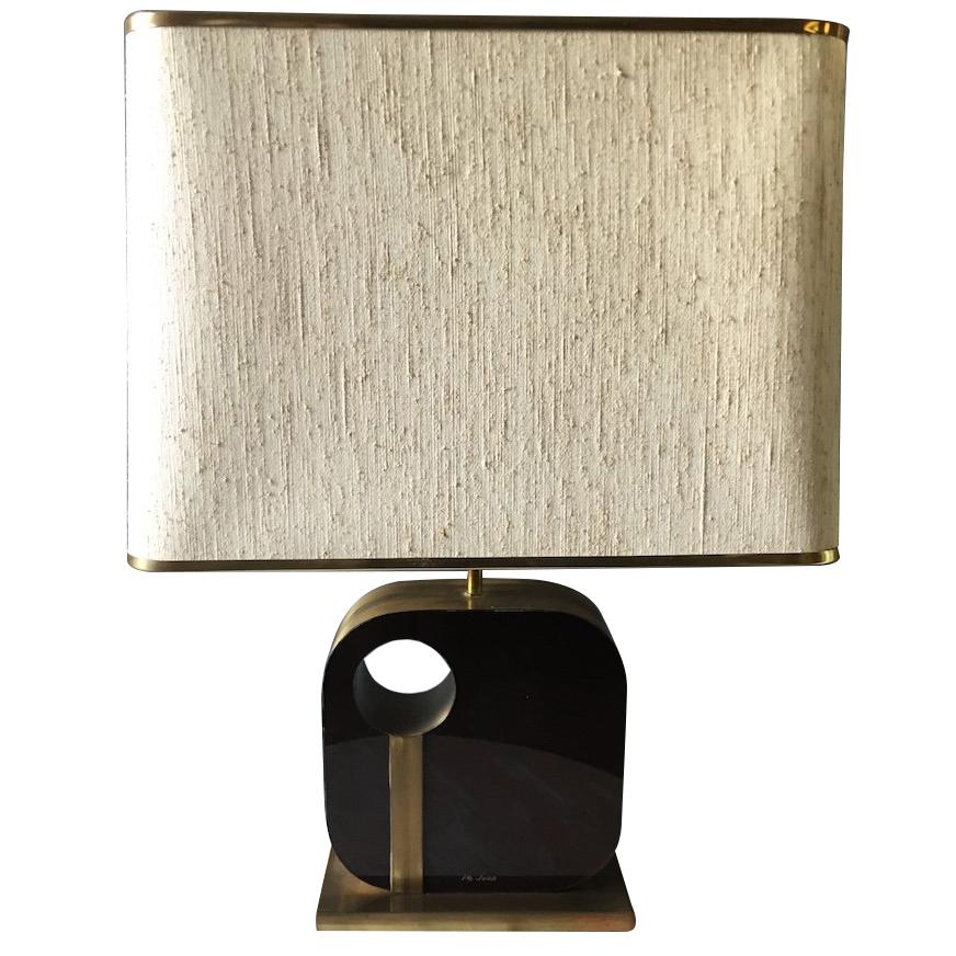 Important Philippe Jean Desk Lamp or Signed
