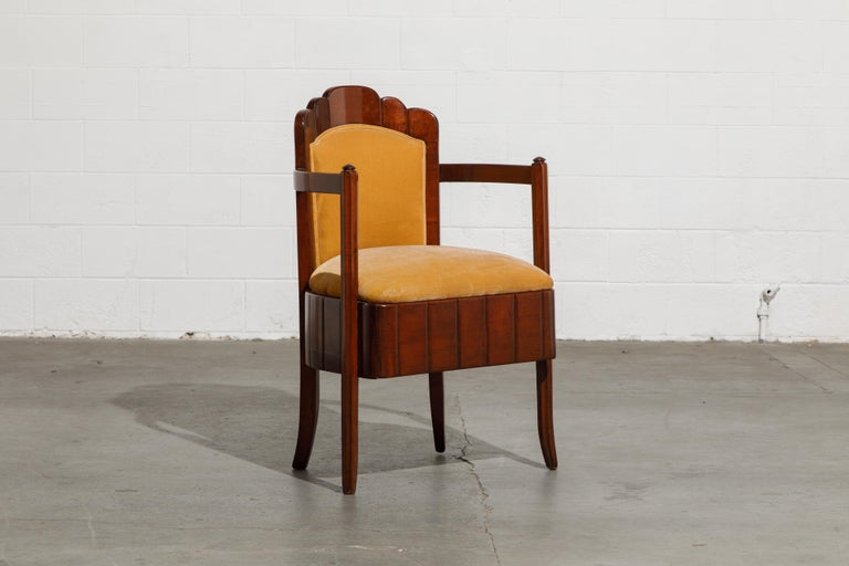 Important Pierre Patout Mahogany Dining Chairs from S.S. Île de France, c. 1927 For Sale 3