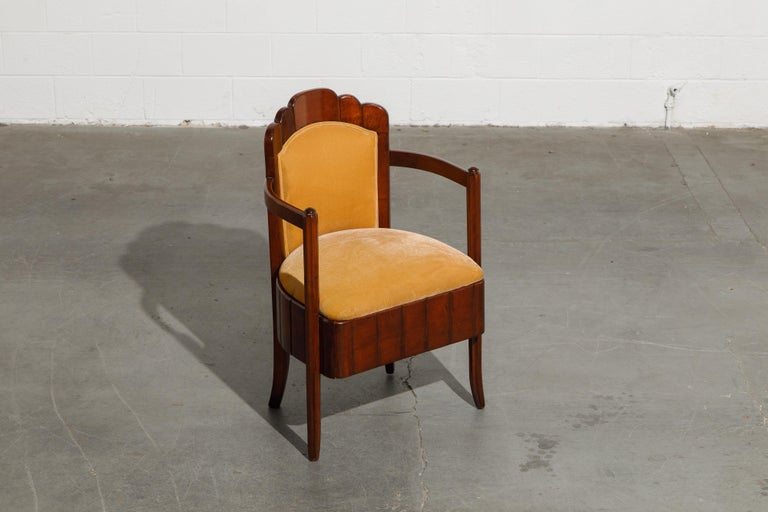 Important Pierre Patout Mahogany Dining Chairs from S.S. Île de France, c. 1927 For Sale 4
