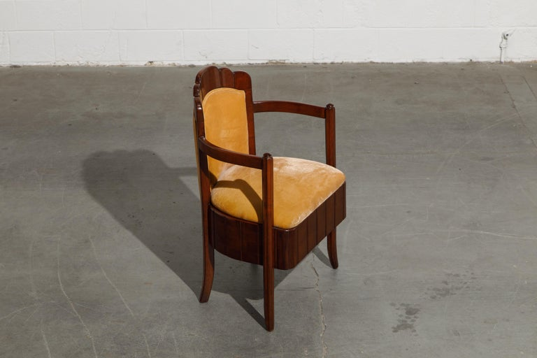 Important Pierre Patout Mahogany Dining Chairs from S.S. Île de France, c. 1927 For Sale 5