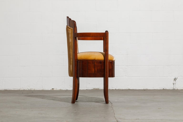 Important Pierre Patout Mahogany Dining Chairs from S.S. Île de France, c. 1927 For Sale 6