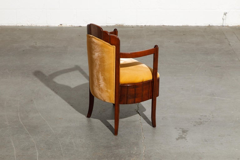 Important Pierre Patout Mahogany Dining Chairs from S.S. Île de France, c. 1927 For Sale 7