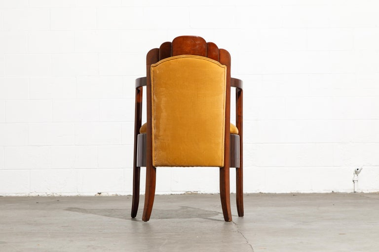 Important Pierre Patout Mahogany Dining Chairs from S.S. Île de France, c. 1927 For Sale 8