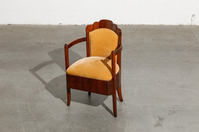 Important Pierre Patout Mahogany Dining Chairs from S.S. Île de France, c. 1927 For Sale 9