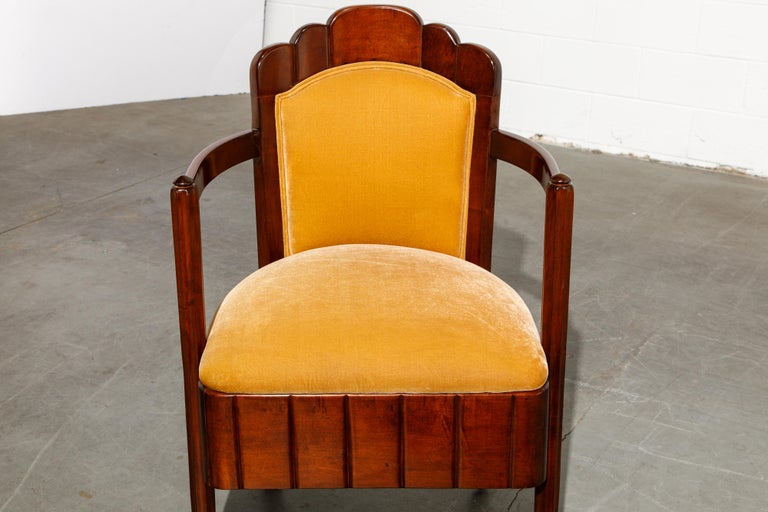 Important Pierre Patout Mahogany Dining Chairs from S.S. Île de France, c. 1927 For Sale 10