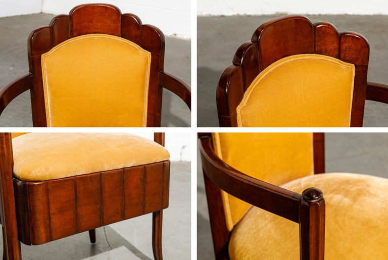 Important Pierre Patout Mahogany Dining Chairs from S.S. Île de France, c. 1927 For Sale 11