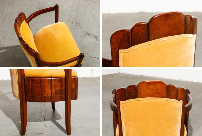 Important Pierre Patout Mahogany Dining Chairs from S.S. Île de France, c. 1927 For Sale 12