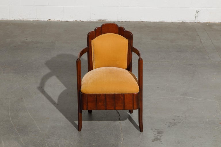 Important Pierre Patout Mahogany Dining Chairs from S.S. Île de France, c. 1927 For Sale 2