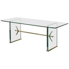 Important Pietro Chiesa Glass Dining Table by Fontana Arte, 1934