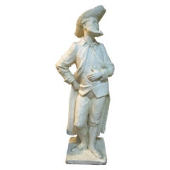 Important Plaster Sculpture of a Hidalgo by Coste, 1964