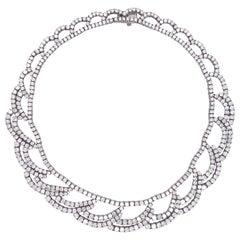 Important Platinum Diamond Necklace