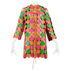 Important & Rare Paco Rabanne Neon Coat Dress 1967