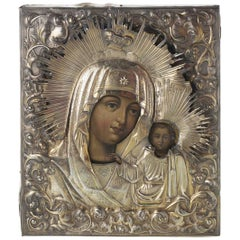 """Important Russian Icon """"Our Lady of Kazan"""" St. Petersburg"""