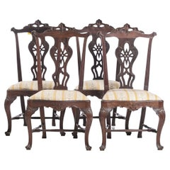 Important Set of 4 Portuguese Chairs from the 18th Century