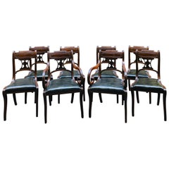 Important Set of Eight Regency Period Mahogany Dining Chairs, Early 19th Century