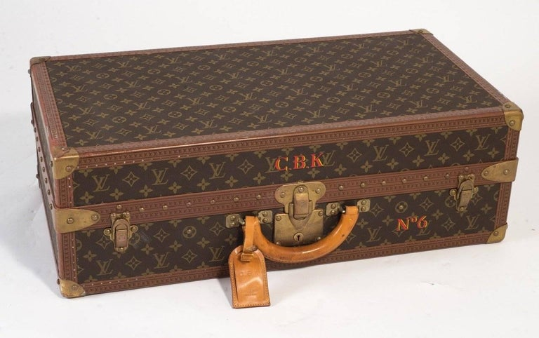 Leather Louis Vuitton Vintage Luggage Important Set of Five Large Pieces ex Indian Royal For Sale