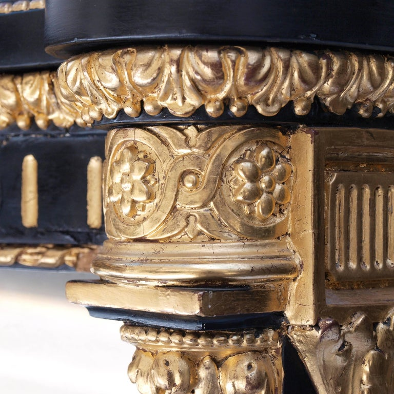 Ebonized Mirrored and Gilt Cabinet by Charles Nosotti circa 1850 For Sale 5