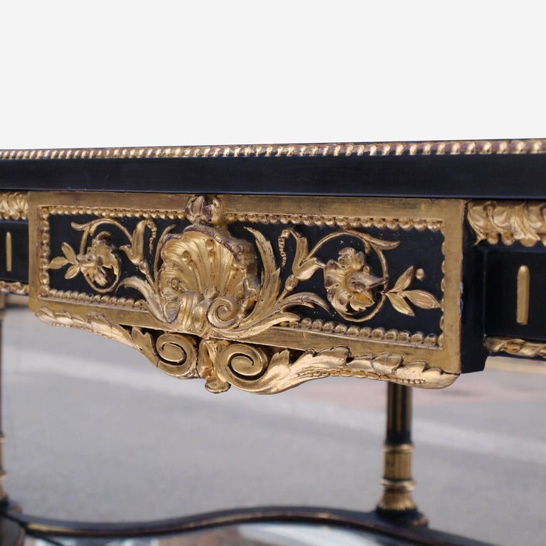 Ebonized Mirrored and Gilt Cabinet by Charles Nosotti circa 1850 For Sale 8