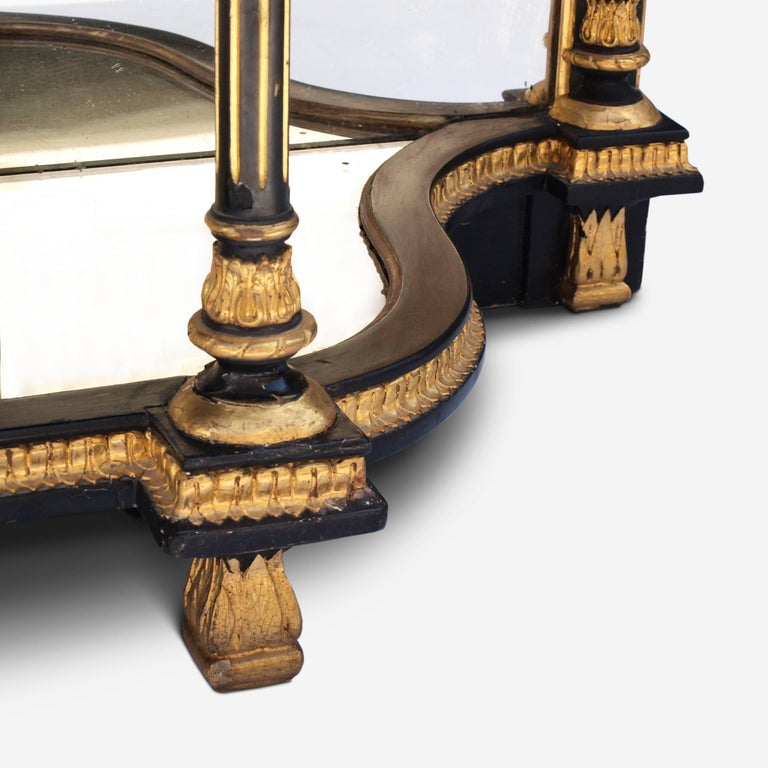 Ebonized Mirrored and Gilt Cabinet by Charles Nosotti circa 1850 For Sale 9