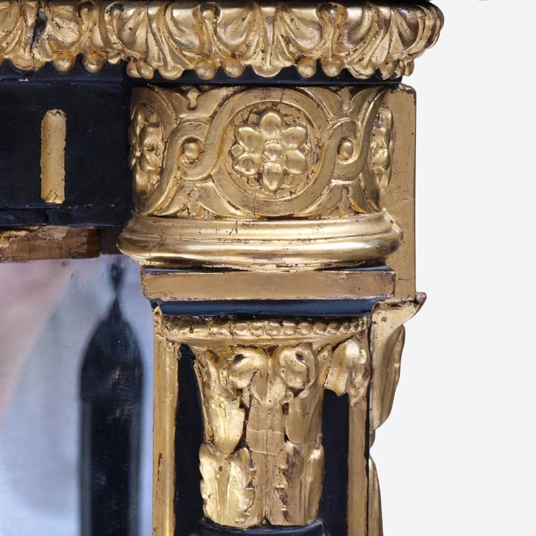Ebonized Mirrored and Gilt Cabinet by Charles Nosotti circa 1850 In Good Condition For Sale In London, GB
