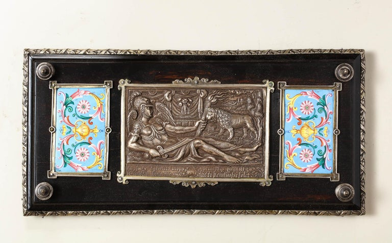 Important Silver & Viennese Enamel Mounted Tortoiseshell Jewelry Cabinet Box For Sale 6