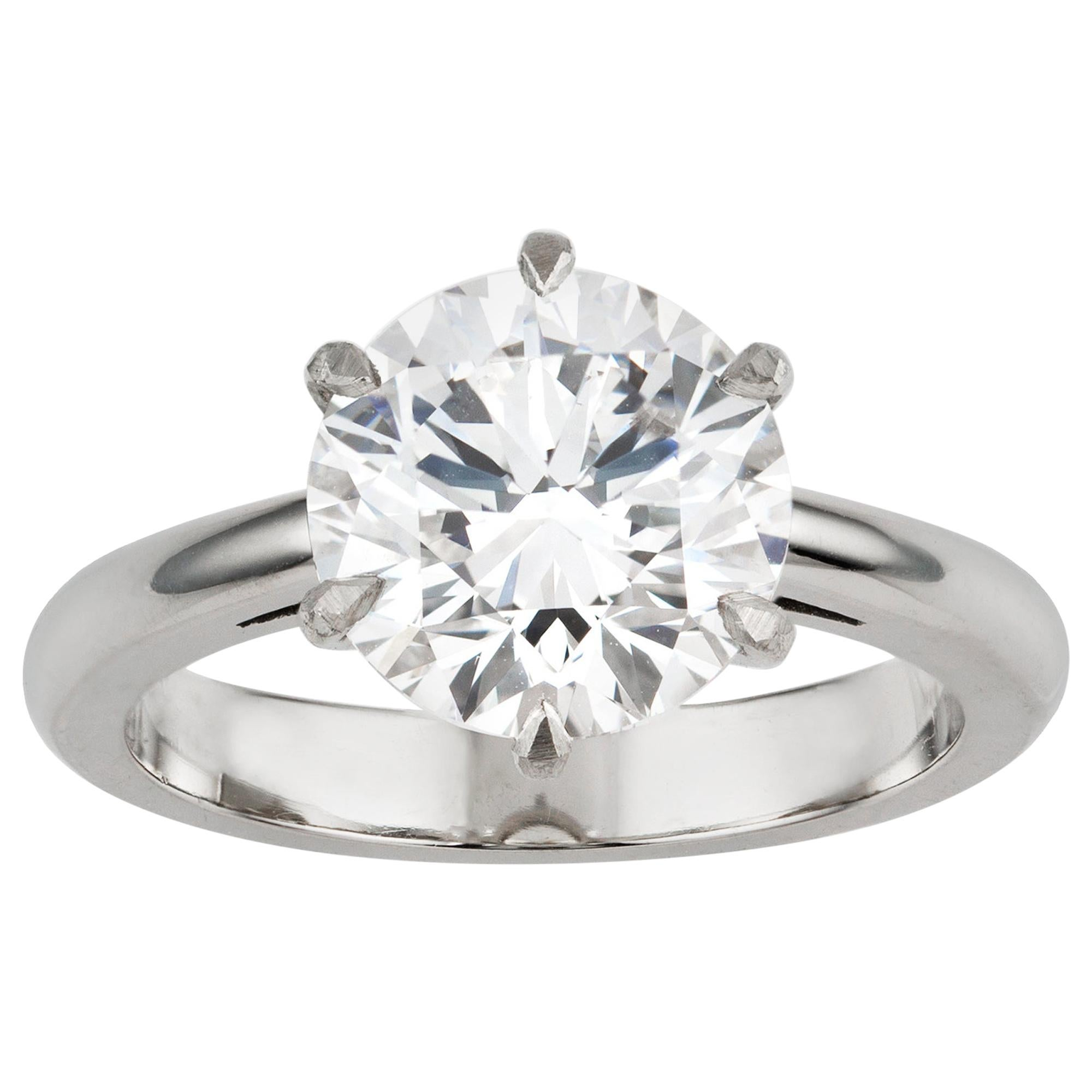 GIA Certified 3.52 Carat Internally Flawless Diamond Solitaire Ring