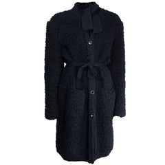 Important Sonia Rykiel knitted black wool coat, circa 1960s