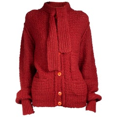 Important Sonia Rykiel rust colour knitted wool jacket.circa 1970s