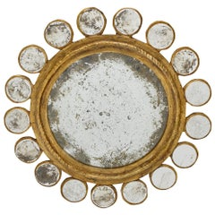 Important Sunburst Vintage Mirror