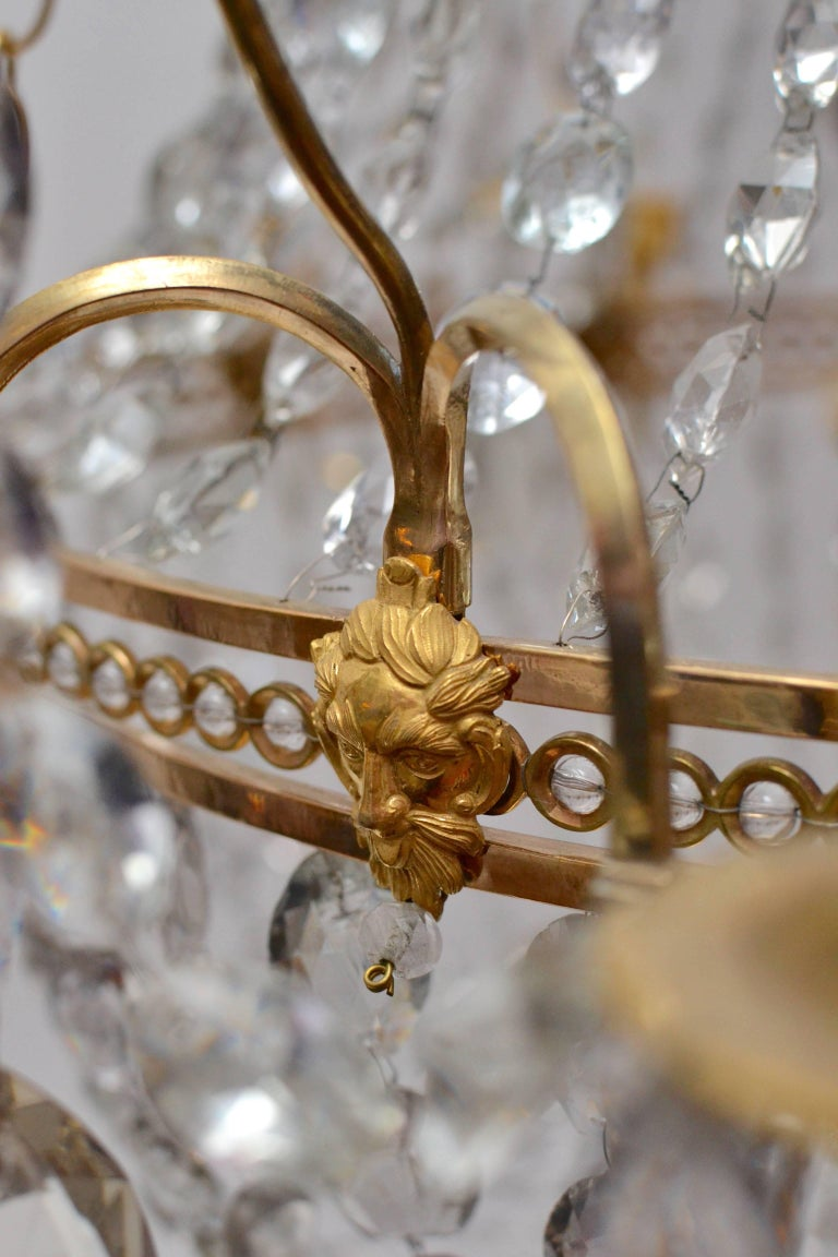 Important Swedish Twelve-Light Haga Chandelier, Stockholm, Late 18th Century For Sale 4