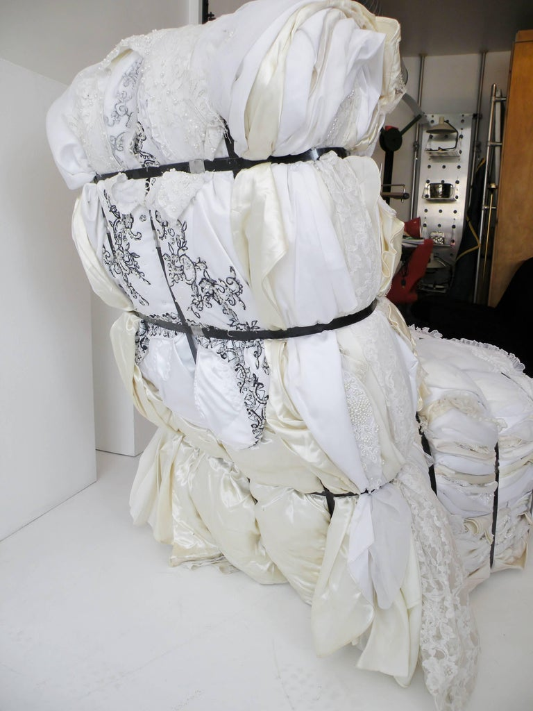 Important Tejo Remy Wedding Dress Rag Chair for Droog Design For Sale 3