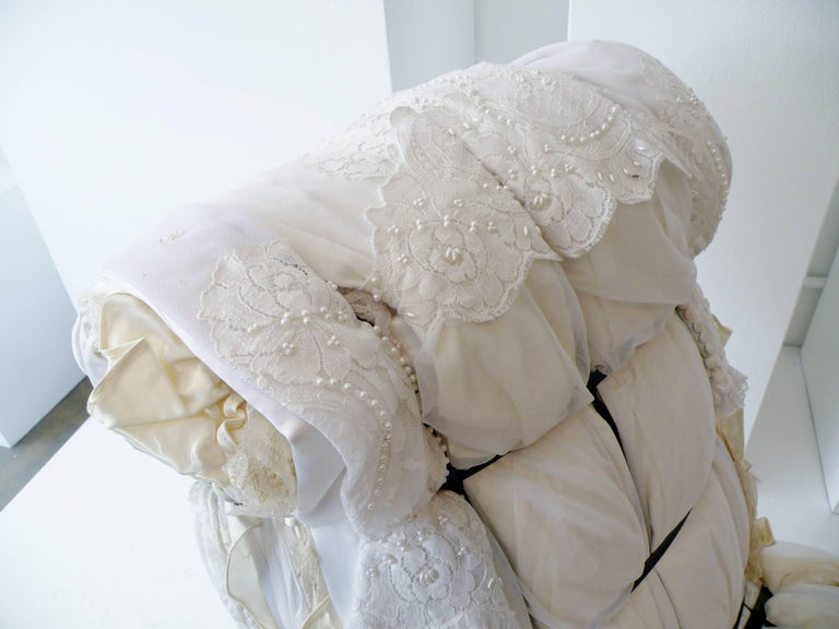 Important Tejo Remy Wedding Dress Rag Chair for Droog Design For Sale 1