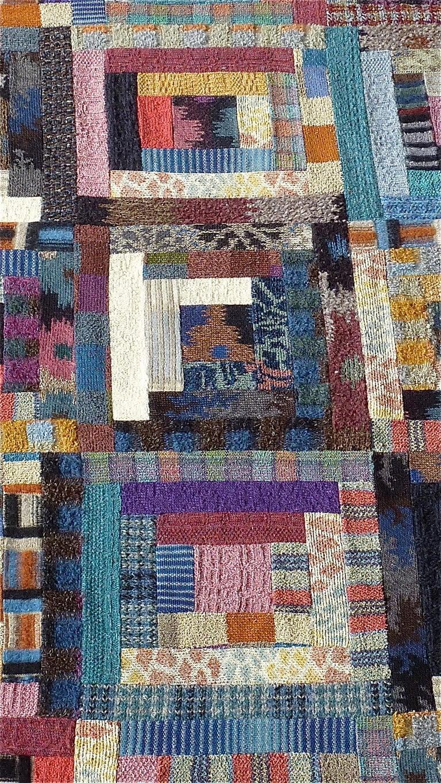 Important Unique Large Missoni Carpet Saporiti Italia Patchwork 1980s Labeled For Sale 3