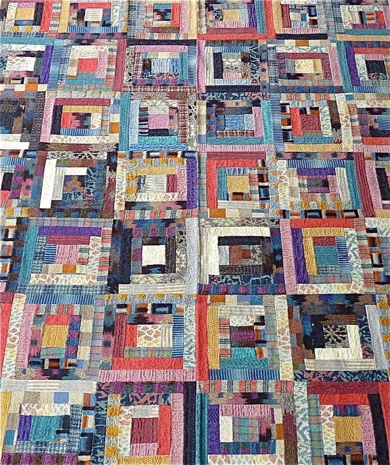 Modern Important Unique Large Missoni Carpet Saporiti Italia Patchwork 1980s Labeled For Sale