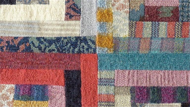 Late 20th Century Important Unique Large Missoni Carpet Saporiti Italia Patchwork 1980s Labeled For Sale