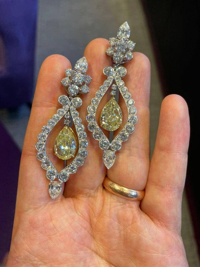 Women's Van Cleef & Arpels Fancy Yellow Diamond Earrings For Sale