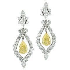 Van Cleef & Arpels Fancy Yellow Diamond Earrings