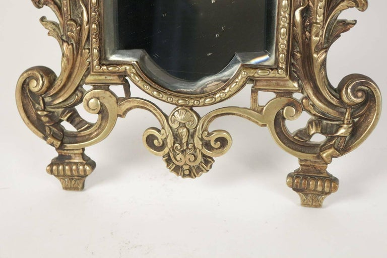 Napoleon III Important Vanity Mirror in Bronze Patine from the 19th Century For Sale