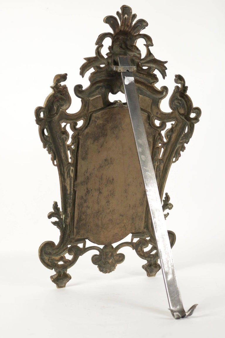 Important Vanity Mirror in Bronze Patine from the 19th Century In Excellent Condition For Sale In Saint-Ouen, FR
