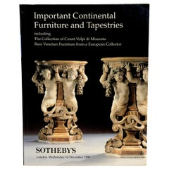 Important Venetian, Continental Furniture and Tapestries, Sotheby's, 1998