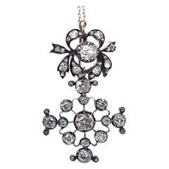 Important Victorian Diamond Cross Pendant, circa 1880s