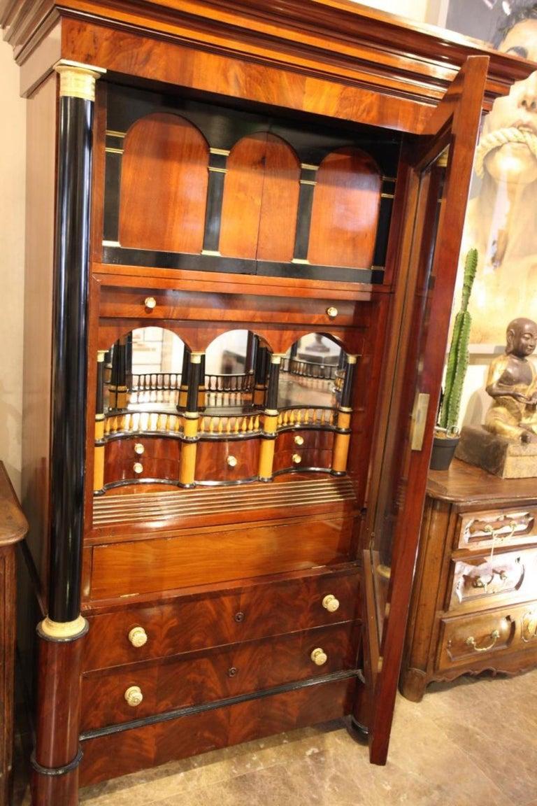 Empire Importante Secrétaire Bierdermeier, 1820-1830 For Sale