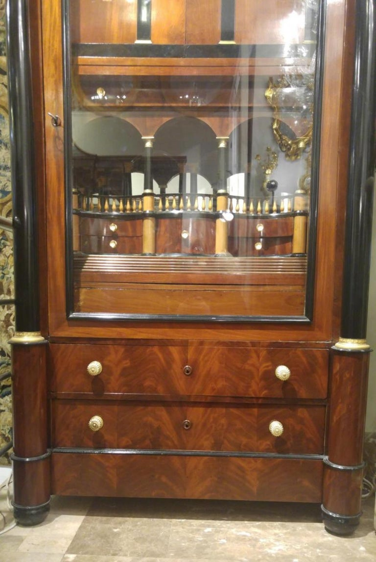 Hand-Crafted Importante Secrétaire Bierdermeier, 1820-1830 For Sale