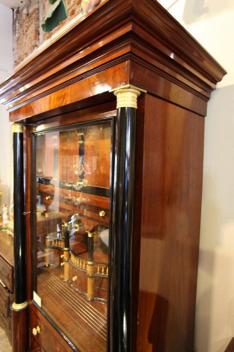 Importante Secrétaire Bierdermeier, 1820-1830 In Good Condition For Sale In Madrid , ES