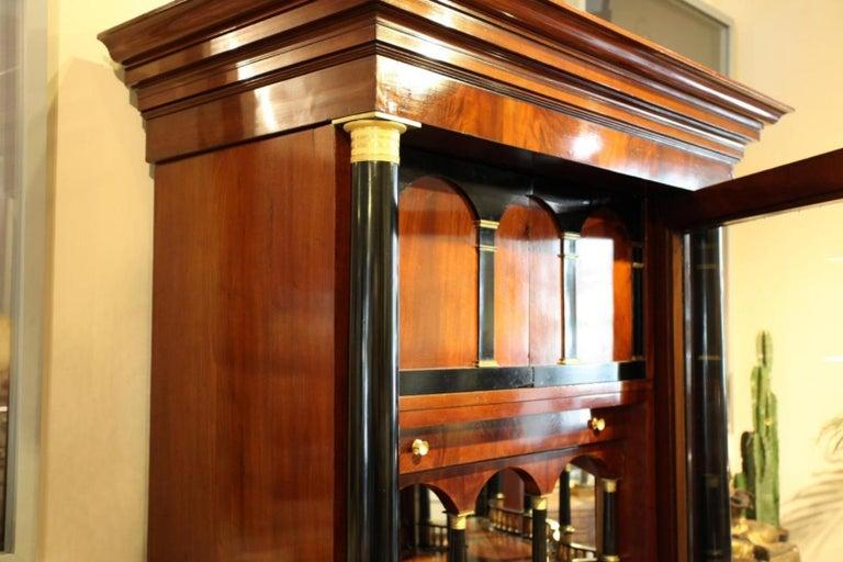 Wood Importante Secrétaire Bierdermeier, 1820-1830 For Sale