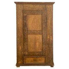 Imposing 19th Century Armoire Cabinet in Oak