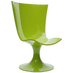 Imposing Green Seat, Decorative and Sculptural Santos Chair by Joel Escalona