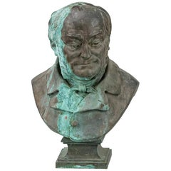 Imposing Large Scale Bronze Bust of French President Adolphe Theirs